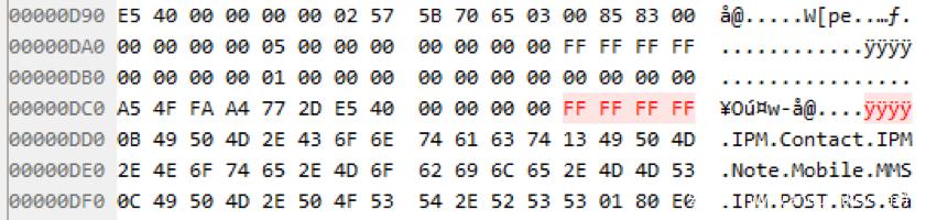 图14. PoC文件中的0xFFFFFFFF