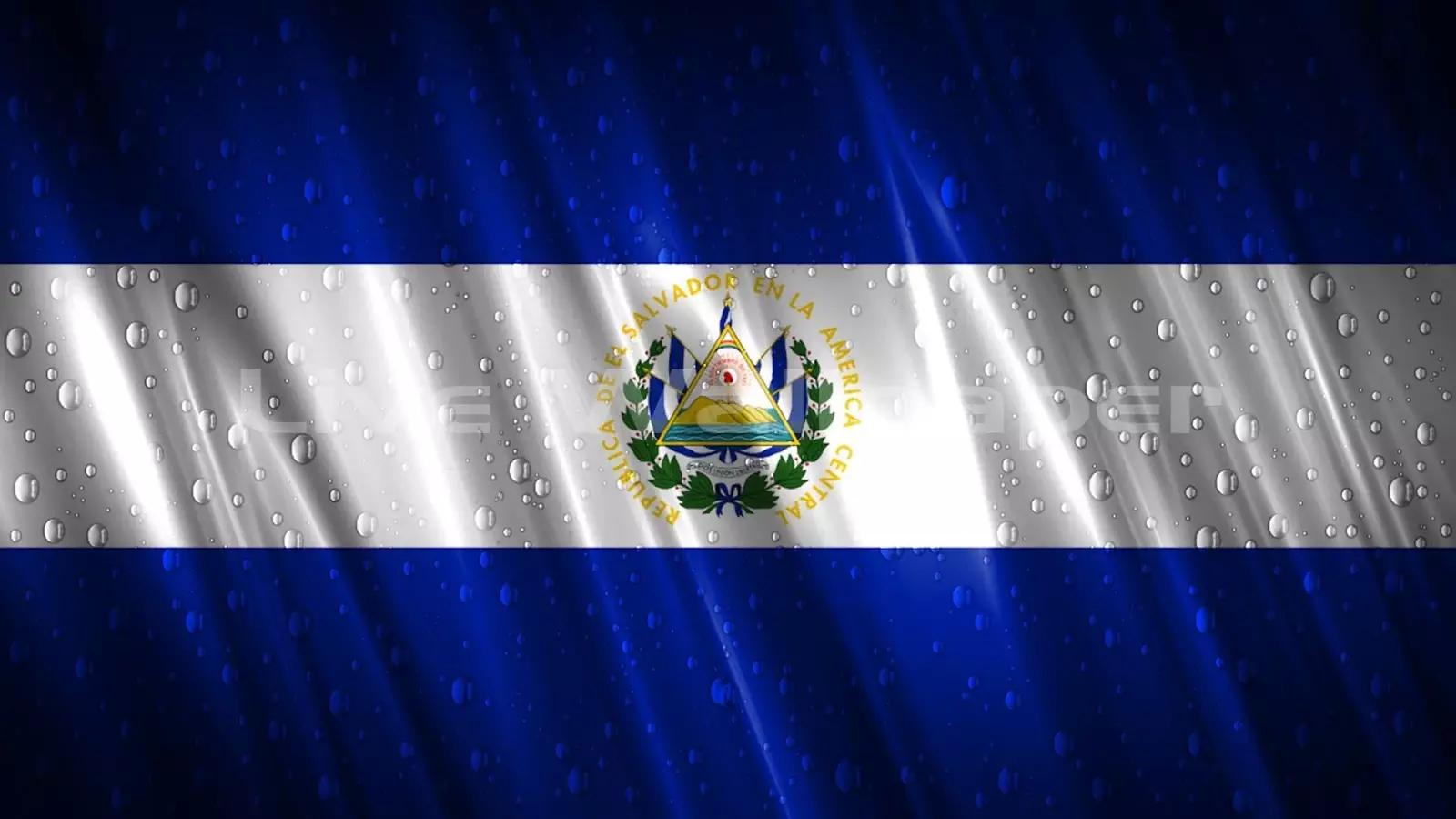 el salvador flag raindrop