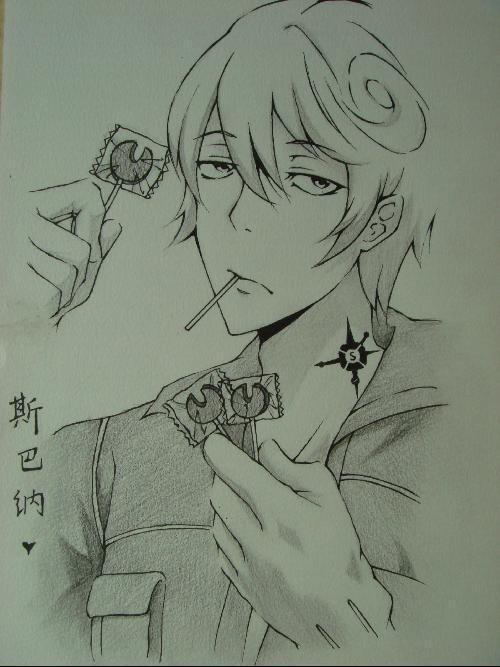 铅笔画人物漫画素描男_动漫人物素描男生图片_动漫人物素描男生图片下载
