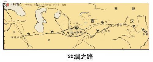 张骞通西域图片_丝绸之路路线示意图图片展示_丝绸之路路线示意图相关图片下载