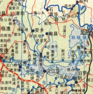 洞庭湖区地图